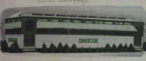 Dina-Car diner drawing